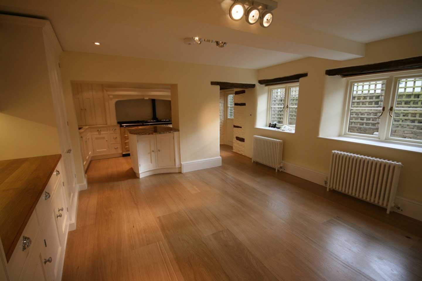 Extra Wide Select Grade Natural White Oak Flooring Unfinished