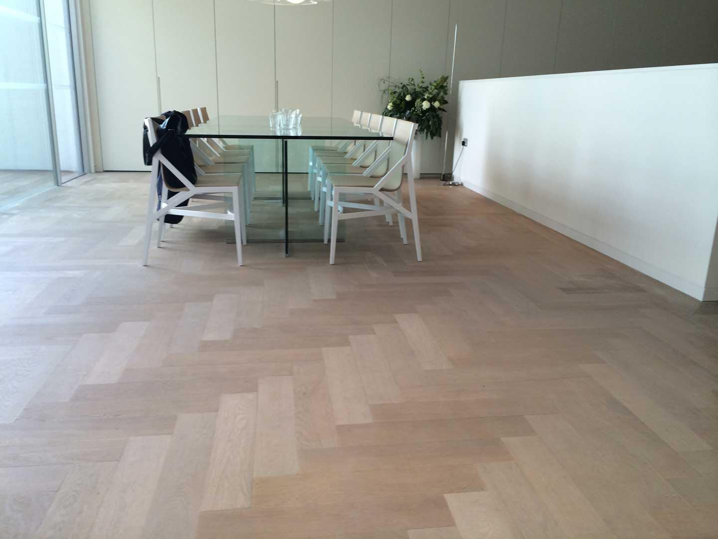 Engineered Lightly Fumed Parquet Raw Timber Oil Finish