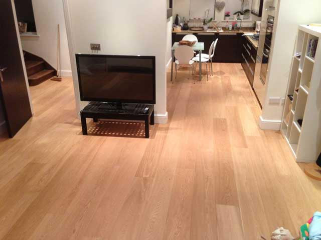 Brushed and UV Oiled Oak in a Kitchen