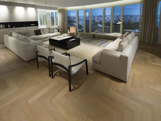 Raw Timber Oiled Parquet in South Bank Tower