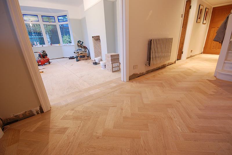Wood floor without tools on it