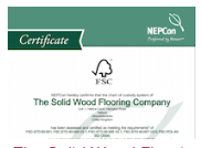 The Solid Wood Flooring Company's FSC Certificate