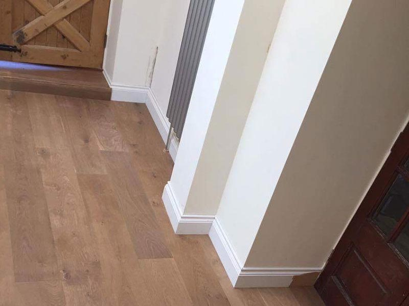 Double Brushed Oak fiited in home