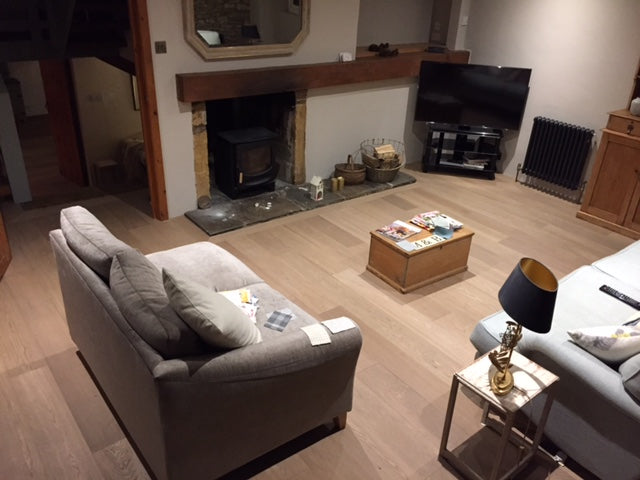 Select Grade Raw Timber Oak Flooring in a Home