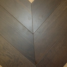 Engineered Fumed Chevron Parquet 45 degree