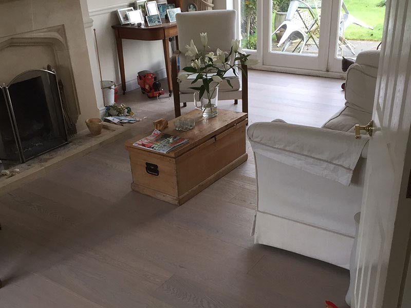 Select Grade Lacquered Oak in home