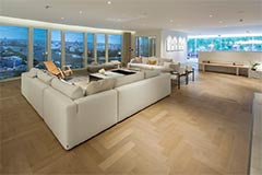 Engineered Parquet Block with micro bevels