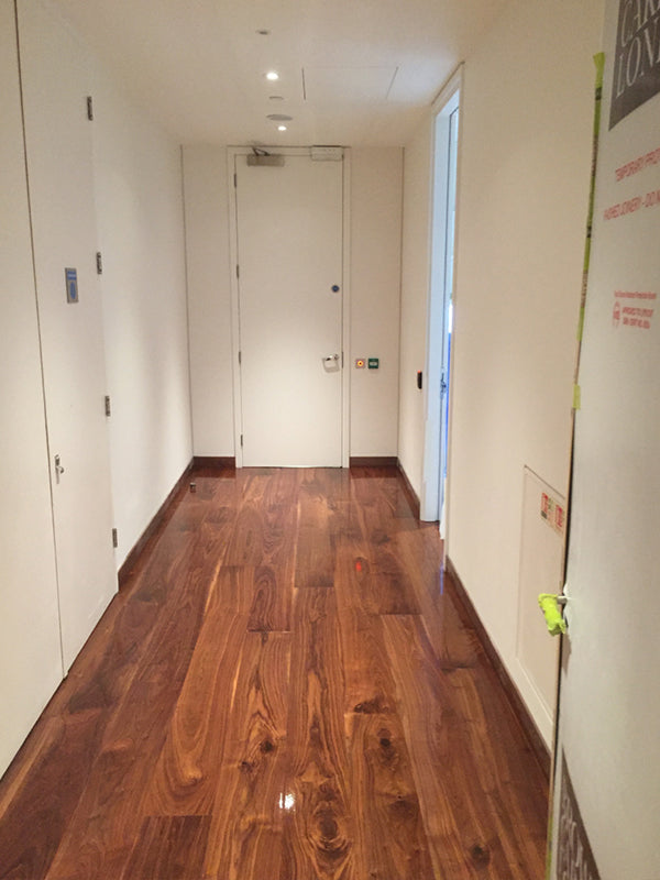 Example of protected wood floor